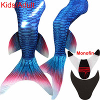 adult flippers - 2016 Newest Princess Ariel Adult Mermaid Tail with Monofin Flipper Little Mermaid Tails Costume Adult Swimmable for Swimming Cosplay