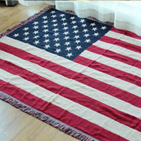 bay towels - Cotton carpet thin blanket quot American flag quot bay window sofa towel blanket bed cover living room bedroom Felts tapestry X180 CM