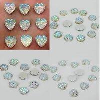 Wholesale DIY White Resin Heart flatback Scrapbooking for phone wedding craft E00036