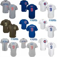 Wholesale 2016 Postseason Patch Men s Chicago Cubs Javier Baez Alternate Road Cool Base Flexbase Authentic Collection baseball Jersey stitched