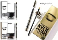Wholesale In stock NEW HOT Kylie Cosmetics Kylie Kyliner In Brown AND Black Kyliner Kit Birthday Edition Dark Bronze Set DHL free