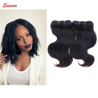Wholesale 2 Bundles Brazilian Virgin Hair Body Wave Human Hair Extension A Inch Cheap Human Hair Natural Color B
