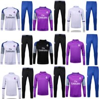 Wholesale 2017 real madrid Tracksuits top quality real madrid Training suit RONALDO BENZEMA JAMES BALE Arsenales Tracksuits