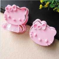 2 PC / set Hello Kitty Sushi Biscuits Cartoon molde DIY Baking electrodomésticos pastel decoración herramientas