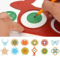 Wholesale Hot Spirograph Magic Turtle Rabbit Sketchpad Drawing Board Kids Educational Toy