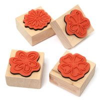 best diaries - Different Quality DIY Flower Full Set Sweet Flowers Diary decoration Wooden Rubber Stamp Craft Best Promotion