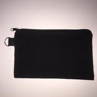 Wholesale 10pcs cotton canvas cosmetic Bags women blank plain zipper makeup bags Mobile phone clutch bag organizer cases pencil pouches
