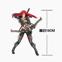 Wholesale LOL League of Legends The Sinister Blade Katarina Action Figure PVC cm high Statue Chinese Version