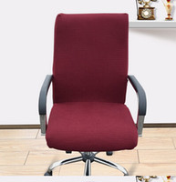 arm office chair - Plain office Computer chair cover side zipper design arm chair cover recouvre chaise super stretch rotating lift chair cover