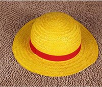 Wholesale NEW ONE PIECE LUFFY Anime Cosplay Hat Cap Straw Boater set a
