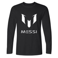 barcelona long sleeve shirt - 2017 brand cotton Barcelona MESSI Soccer Men t shirt tops Man casual sport long sleeve football t shirts Plus Size XS XXL