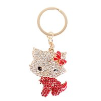 beautiful boy body - Fashion Beautiful Body Red Butterfly Charm Pendant Cat Crystals Purse Bag Key Chain Keyring Creative Gift