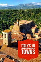 art town gifts - Italian Hilltop towns Travel Italy Landscape Vintage Retro Kraft Decorative Poster DIY Wall Stickers Posters Home Decor Gift