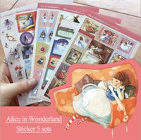 alice pack - 5sheets Pack New Alice fairy tale series multifunctional sticker pack DIY deco sticker office school supplies dandys