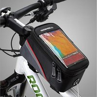 Wholesale Bicycle Touch Screen Mobile Phone Package On The Touch Screen Mobile Phone Bike Bag Pipe Bag Bike Riding Supplies And Equipment