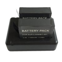 Cargador dual USB Base 800mA Batería adecuada para GoPro HD con pantalla Hero4 / Gopro Hero4 negro