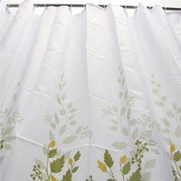 Wholesale Top Selling Fasion Vine Leaves CM CM Thick Showerproof Bathroom Shower Curtain Polyester With Hooks