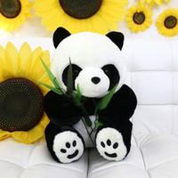big black bear plush - new cm big teddy bear Eatting Bamboo Leaves Panda Boy Girl Cute Soft Push Stuffed Fuzz Panda Animal Doll Toys For Children