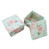 Wholesale DIY Folded Cardboard Square Party Favor Box Wedding Candy box Gift Package LWB0165 green