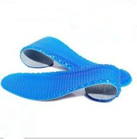 Wholesale 100pairs Man Women Honeycomb Massaging Insoles SOFT Silicone Gel Sports Running Athletic Shoe Pad Inserts Insole fast shipping