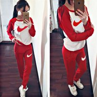 Wholesale Women s Sport Suits Brand New Tracksuit for women sweatshirt and Joggers sets Plus Size Autumn Winter Coat svitshot hoodie