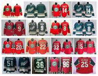 burn - Stitched NHL Minnesota Wild Blank BURNS KOIVU Havlat Brunette NIEDERREITER Suter Scott Red Green Hockey Jersey Ice Mix Order