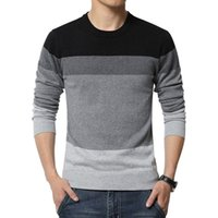 Wholesale New Autumn Fashion Brand Casual Sweater V Neck Striped Slim Fit Knitting Mens Sweaters And Pullovers Men Pullover Men XL