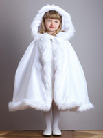 baby velvet yarn - 2017 Winter Baby Poncho Ivory and White Stunning Children s Cloaks Faux Fur Ankle Length Perfect For Winter Kids Cape Outwear