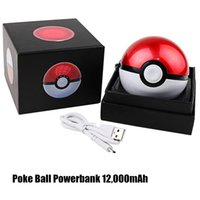 Wholesale Popular Game Poke Go Back Up Chargers Poke Ball Power bank mah Huge Capacity Cell Phone Power bank with Projector Function Light