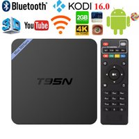 Wholesale Android TV Box Amlogic S905 Quad T95N Mini M8S Pro Amlogic S905 Core DDR3 G G UHK K KODI16 Airplay Set top Box