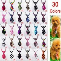 Wholesale Adjustable Dog Cat Tie Pet Lovely Adorable Sweetie Grooming Tie Fashion Grid Necktie Leopard Print Stripe Neck Wear Pet Dog Bow Tie B779