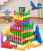Wholesale Bullet software building blocks Kindergarten early childhood educational fight inserted plastic building blocks toys for children years