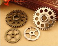 bag charms manufacturers - A3542 MM MM Antique Bronze Manufacturers supply Vintage gear charms parts DIY jewelry accessories grams bag mix
