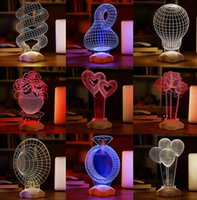 Wholesale Fashion Touch LED D light illusion big hero USB Touch Night Light Sculpture Desk Lamp Art Room Decor