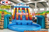 backyard door - Kids backyard fashionable pool slides commercial inflatable water slide decorated door