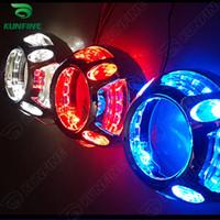 achat en gros de kits ampoule hid d2s-Kit 3.0 pouces voiture bi-xénon HID projecteur lentille avec les yeux Panamera linceul Ange LED comprennent D2S HID ampoule Pour faisceau phare de voiture haut-bas