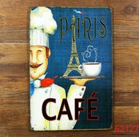 Wholesale CAFE Tin Sign Bar pub home Wall Decor Retro Metal Art Poster
