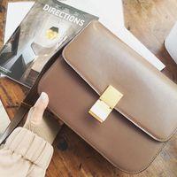 Wholesale Hot Luxury brand Simple retro square metal buckle women fashion shoulder handbag diagonal practical joker A630