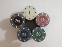 Wholesale New g cm Texas Poker Chips Pieces With Five Different Values
