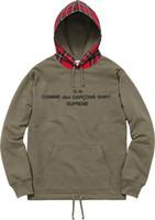 Wholesale Hot Sale New Cooperation Suprem Hoodie Fashion Fleece Sweatshirts Brand Hip Hop Sup X CDG s s kanye weat YEEZUS Hoodie