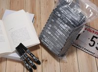 Wholesale 100pcs black marker pen set oily mark pen set factory price cheap oily marker pen