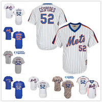 pinstripe baseball jerseys - New York Mets Yoenis Cespedes White Pinstripe Pull Down Blue Gray Camo NY MLB Baseball Jerseys Sale From China Top Quality