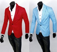 Wholesale Mens Casual Clothes Slim Fit Stylish Suit Blazer Coats Jackets Can customize Slim suits Six colors 2