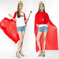 adult king crowns - Princess Adult Costumes Cosplay Cape Cloak Queen King Red Devil Cloak Prince With Crown Cosplay Costume Halloween Party Ball Queen