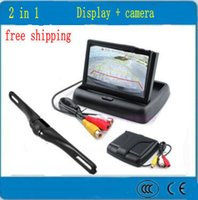 Wholesale Car reversing image desktop monitors folding screen plate cameras Rearview camera