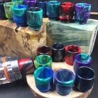 Wholesale Epoxy Resin drip tip Colorful Resin Wide Bore drip tips Mouthpiece for TFV8 Atomizer Tank Vaporizer Atomizer Tank Mouthpiece