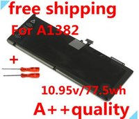 Wholesale Laptop Battery Original Li ion Battery V WH A1382 Battery For APPLE MacBook Replace A1382 battery