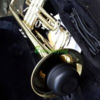 Wholesale Mini Trumpet Straight Practice Cup Mute Lightweight Musical Black trumpet bb trumpet kit