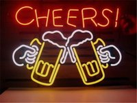 Wholesale Cheers Neon Sign Custom Store Display Beer Bar Pub Club Light Signs Shop Decorate Real Glass Tube Bulbs quot x14 quot