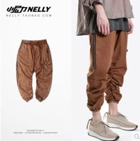 Wholesale Europe Japanese Histreet Hipster Kanye west Elastic Cargo Pants Men Hiphop Bieber Trousers Man with many Pockets machetes Dead fly GD pants